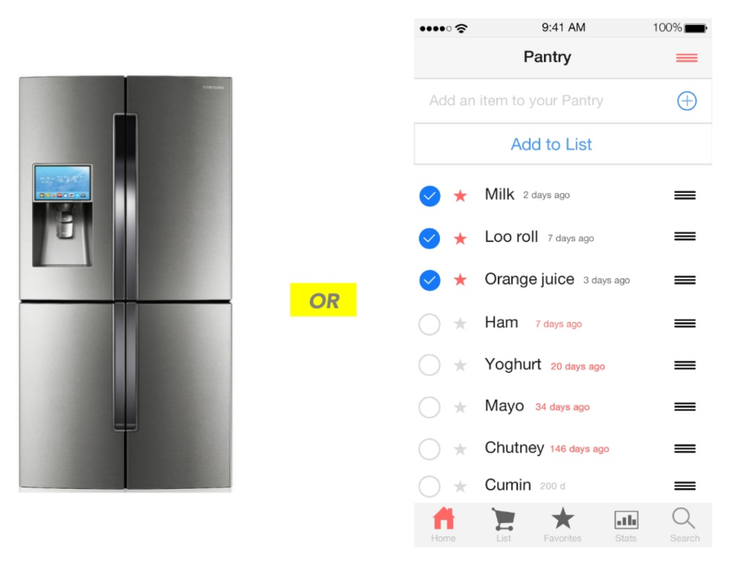 as alternative, smart fridge