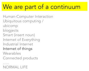 the continuum to normal life