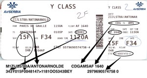 Boarding pass comparison