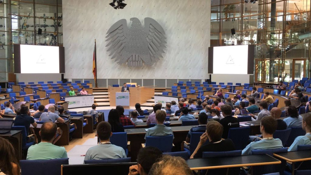 Speaking in the former German Parliament