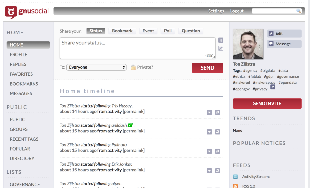 GNU Social Microblogging Platform