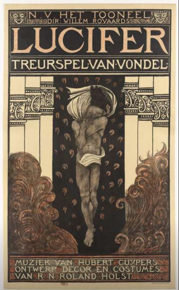 A poster for the play Lucifer from 1910